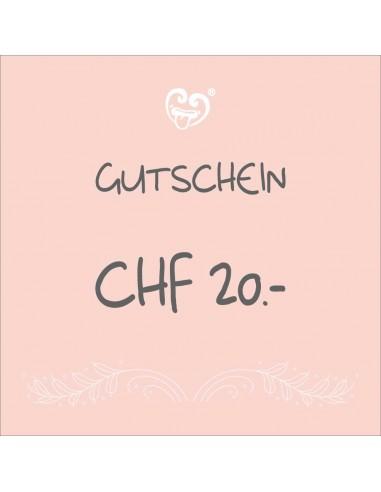 CHF 20.- Bon cadeaux